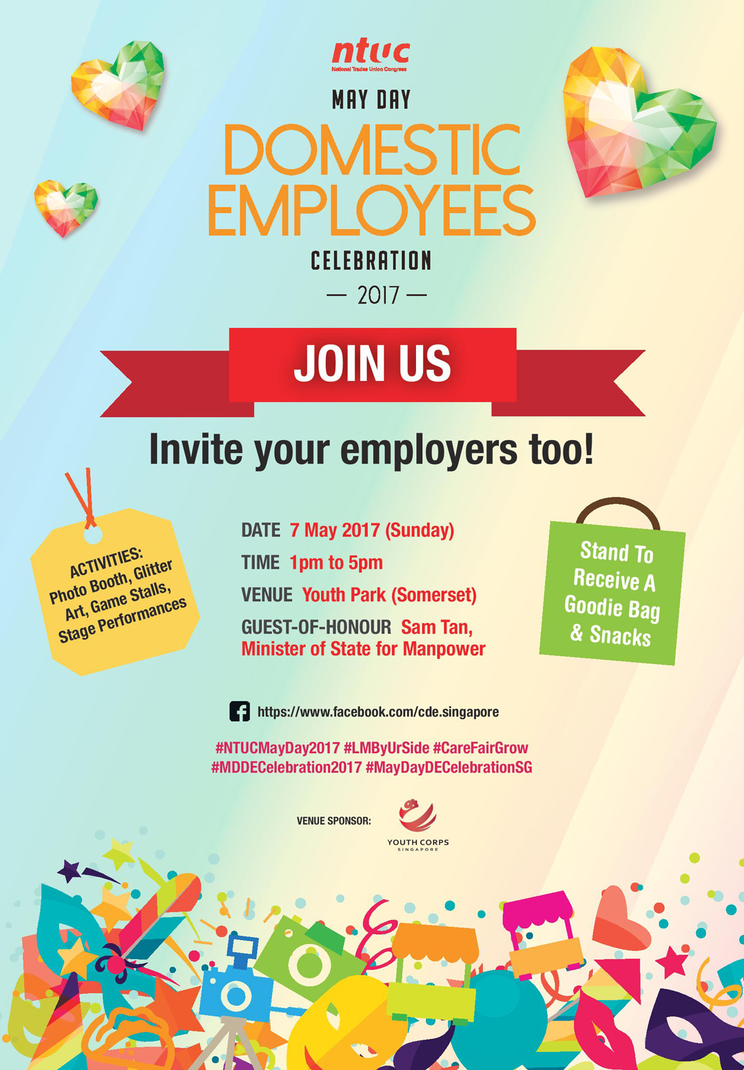 ntuc u portal may day domestic employees celebration 2017 event poster